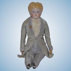 Antique Doll China Head Boy Wonderfully Dressed