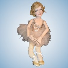 Vintage Ron Kron Doll Dolls of The Stars Ginger Rogers Marilyn Miller Character Jointed in Costume