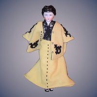Antique Doll China Head Petite Size Wispy Bangs Fancy