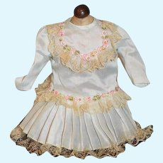 Sweet Vintage Doll Dress with Lace Trim Sweet Detail