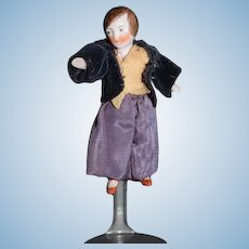 Antique Doll All Bisque Jointed Doll Miniature Jointed Dollhouse German
