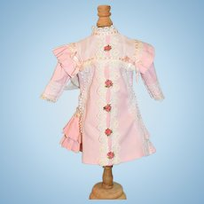 Vintage Hand Made Fancy Doll Dress For French Doll