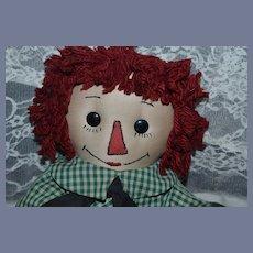 Raggedy Andy Doll Cloth Doll Rag Doll Unusual Sweet