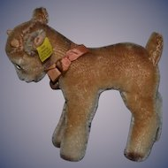Old Steiff Mohair Goat Button Tag 6314,0 Adorable