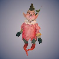 Old LARGE Unusual Elf Adorable Doll