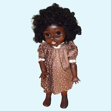Wonderful Fred Thompson Black Carved Wood Glass Eye Jointed Doll Artist