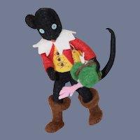 Vintage Puss n Boots Doll Cat Cloth Doll Miniature Dollhouse