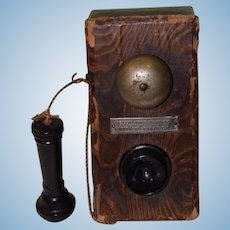 Antique Doll Miniature Chocolate Box Candy Box 1908 Telephone Gunther's Candy