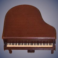 1940's Doll Petite Baby Grand Piano Speidel Music Box Top Opens GORGEOUS Display