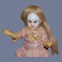 Antique Doll Miniature Bisque Head French Market Dollhouse