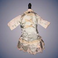 Vintage Doll Dress Drop Waist Lace Trim Ribbon BEBE Brooch