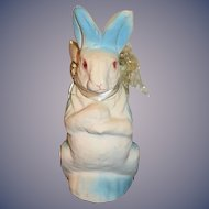 Old Papier Mache Rabbit Easter Candy Container Sweet