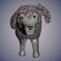 Antique Doll Schoenhut Dog Poodle Glass Eyes Humpty Dumpty