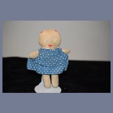 Old 1930's Berea College Student Industries Old Cloth Doll Rag Doll Sweet W/ Old Tag