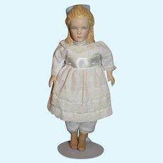 Vintage UFDC Kathy Redmond Artist Doll Sweet W/ Molded Shoulder Plate