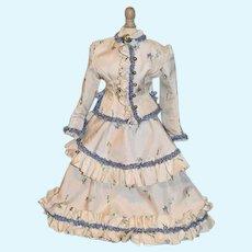 Wonderful Doll Older Three Piece Set Dress Skirt Jacket Ruffle Fashion Doll Hand Made