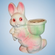 Vintage Papier Mache Rabbit Easter Bunny Candy Container Sweet