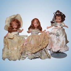 Vintage Doll Lot Story Book Dolls Original Clothes