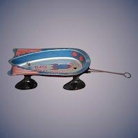 Vintage Wyandotte Rare Flash Start -O- Wagon  Wagon Tin Litho