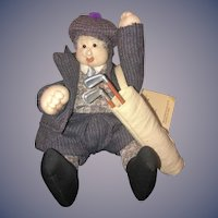 Vintage Artist Doll Soft Sculpture Character Doll John Embardino