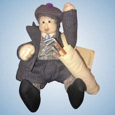 Vintage Artist Doll Soft Sculpture Character Doll John Embardino