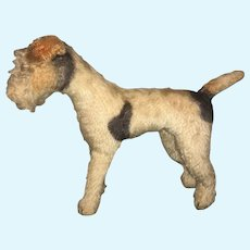 Antique Dog French Fashion Size Terrier Mohair ADORABLE