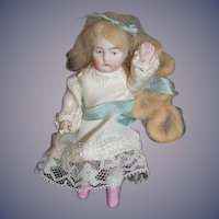Antique Doll All Bisque Miniature Jointed Dollhouse