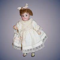 Antique Doll Miniature All Bisque Dollhouse Sweet