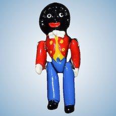 Wonderful Doll Miniature Metal Jointed Golliwog Dollhouse Artist