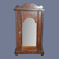 Antique Doll Miniature wood Glass Front Dollhouse