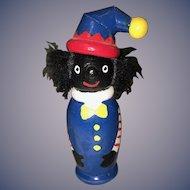 Old Wood Black Doll Golliwog Unusual Miniature Dollhouse