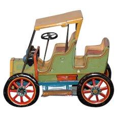 Vintage Tin Lever Action Car Modern Toys Japan Works!