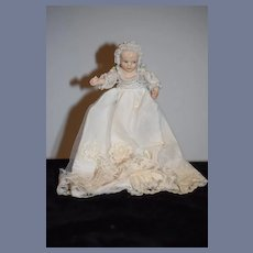 Artist Doll Gorgeous Porcelain Baby Molded Lace All Bisque Dollhouse Kathy Redmond Artist Doll
