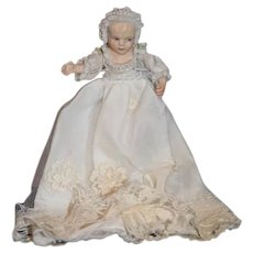 Artist Doll Gorgeous Porcelain Baby Molded Lace All Bisque Dollhouse