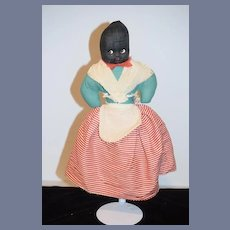 Old Cloth Doll Topsy Turvy Black Doll White Doll Sweet