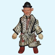 Antique Schoenhut Doll Wood Carved Jointed Circus Entertainer CUTE!