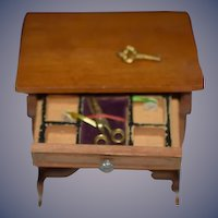 Vintage Doll Miniature Sewing Table W/ Sewing Accessories