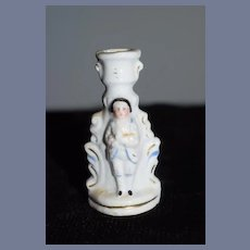 Antique Doll Miniature Staffordshire Candlestick Dollhouse Figural
