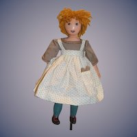 "Artist Doll Oil Cloth Doll JoAnna  "" Sarah Jane"" 1987 Sweet Signed"