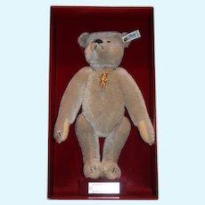 Vintage Steiff Teddy Bear Richard Steiff Margarete Steiff Mohair in Original Box W/ Steiff Bear Pin