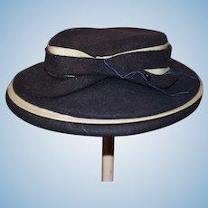 Vintage Doll Hat Bonnet New York Felt Charming