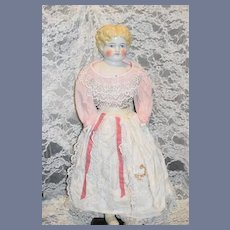 Antique Doll China Head Pretty Face Highland Mary