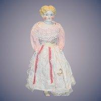 Antique Doll China Head Pretty Face Highland Mary