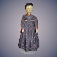 Old Doll Wood Pegged Jointed Grodnertal Doll