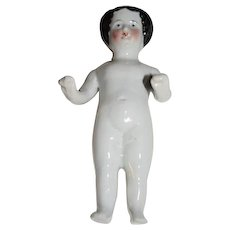 Antique Doll China Head Frozen Charlotte China Head Petite Size