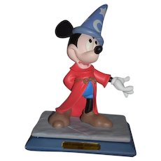 Vintage Mickey Mouse Disney The Sorcerer's Apprentice Signed and Numbered 1994 Statue