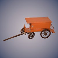 Old Doll wood Stage Coach Miniature For Dolls Stagecoach