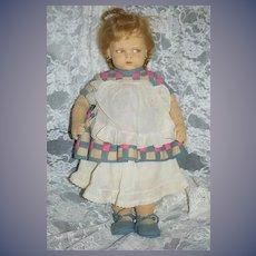 Antique Doll Lenci 1500 Series GRUMPY TOO CUTE!! Felt Cloth Doll