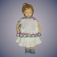 Antique Doll Lenci 1500 Series GRUMPY TOO CUTE!! Felt Cloth Doll