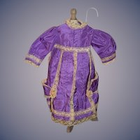 Old Doll Dress Gorgeous Lace Fancy Doll